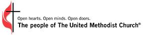United Methodist Church Cross and Flame - Open Minds Open Hearts Open Doors